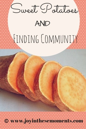 Sweet Potatoes and Finding Community @joyinthesemoments.com