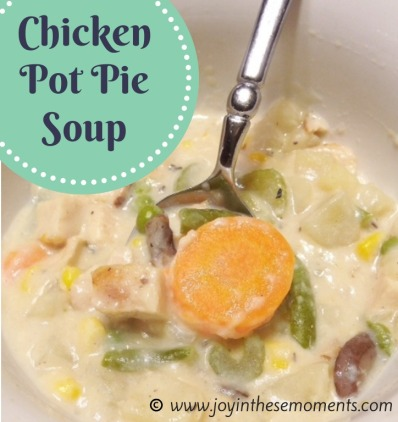 Chicken Pot Pie Soup @joyinthesemoments.com