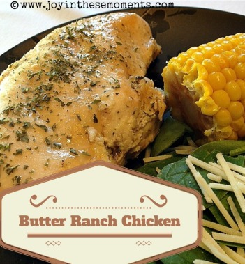Butter Ranch Chicken @joyinthesemoments.com