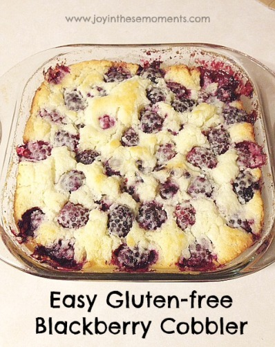 Easy Gluten-free Blackberry Cobbler @joyinthesemoments.com
