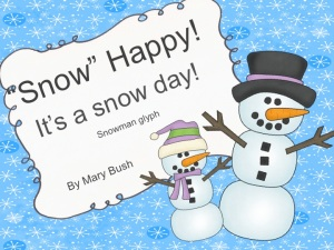 "Snowman Glyph /""Snow"" Happy! It's a Snow Day! @joyinthesemoments.com"